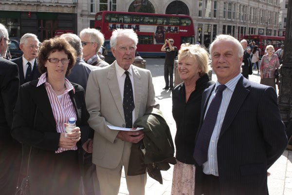 Maurice Sumner with the Mann Family outside St Paul's